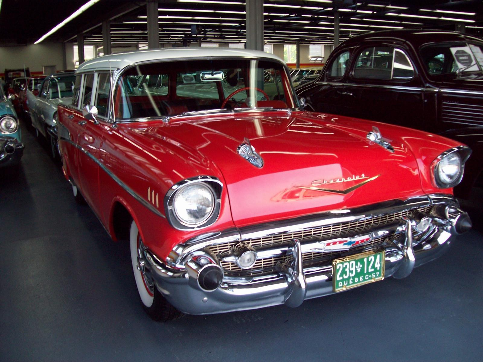 chevrolet belair wagon usag vendre john scotti classic cars montr al. Black Bedroom Furniture Sets. Home Design Ideas